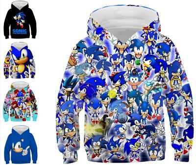 Boys 3d Hoodies Sonic The Hedgehog Cartoon Kids Sweatshirts Coat 110 160cm Ebay