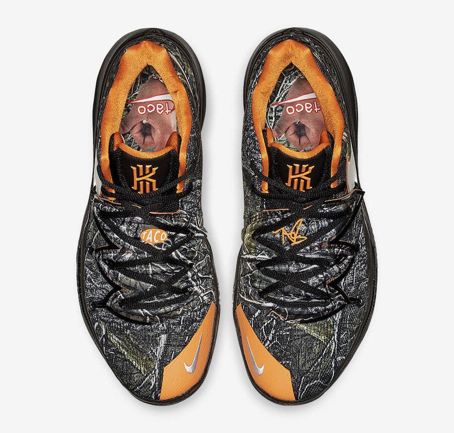 4559e27bc58c4 QS Nike Nike Nike Kyrie 5 Taco PE size 7.5. Tree Camo orange Reflective.
