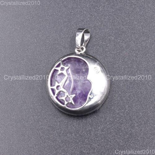 Pierres naturelles lune et étoiles Reiki Chakra Healing Beads Pendentif Colliers