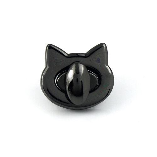 Metal Cat Twist Turn Lock Clasp DIY Handbag Bag Purse Buckle Craft Accessories
