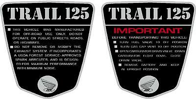 Honda ct70 K1 blue decals set semi model late 71-73 auto models with yellow lett