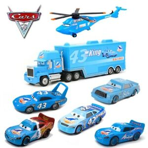 McQueen Disney Pixar Cars Lot Dinoco Series King Helicopter 1:55 Diecast Toy Car