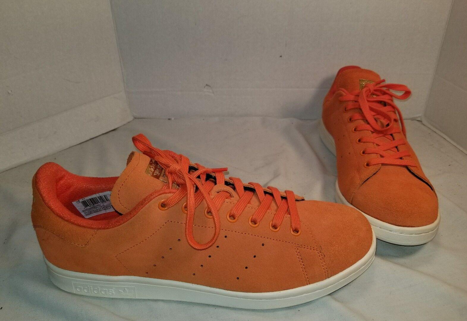 Nuovi uomini scarpe  adidas stan smith energia arancione scamosciato scarpe uomini taglia noi 11 fd4148