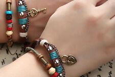 Couple Bracelet Leather Lock Key Boyfriend Girlfriend Gift Free Shipping CP-3666
