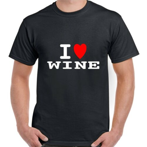 I heart love WINE T shirt BNWT choose colours fun retro novelty stag party