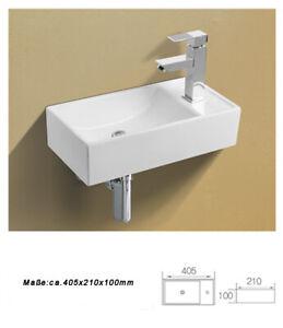 1x Waschbecken Wand Klein Keramik Handwaschbecken Keramikwaschbecken 40 5x21x10 Ebay