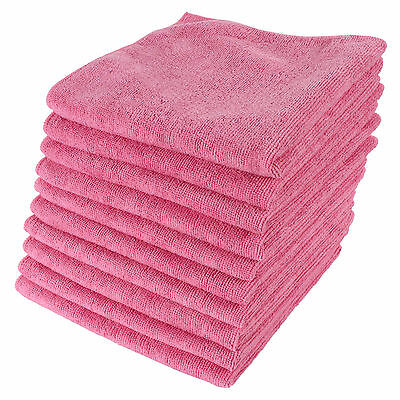 10pk Pink Large Microfibre Home Car Valeting Dusters Polishing Cleaning Cloths