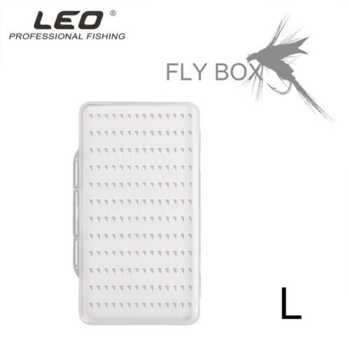 Storage Box Case With Slot Fly Fishing Lure Hook Box S//M//L Clear Ultra-thin Box