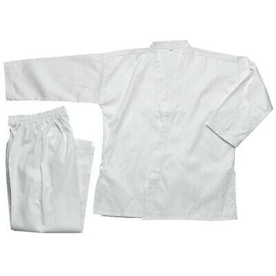 KD ELITE STUDENT KARATE UNIFORM Youth Size 3//170 White Gi Jacket Pants Belt NEW