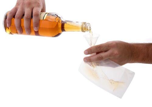 Concealable flask Runner Rum Alcohol Liquor Smuggle Booze Wine Plastic 3dayshipn