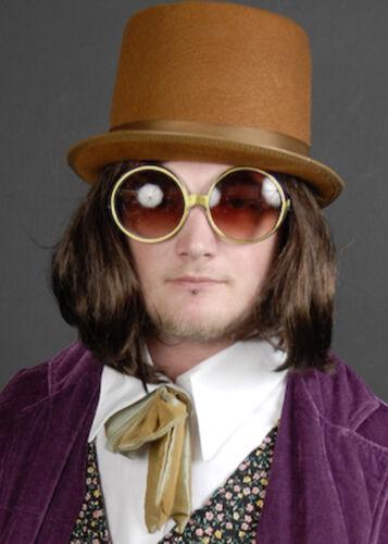 Willy Wonka Style Round Gold Glasses
