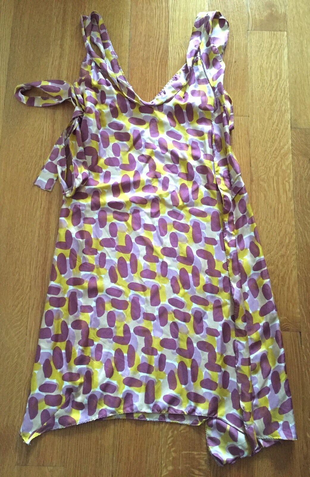 MARNI  Summer Paint Brush Strokes Print Silk Dress sz 38