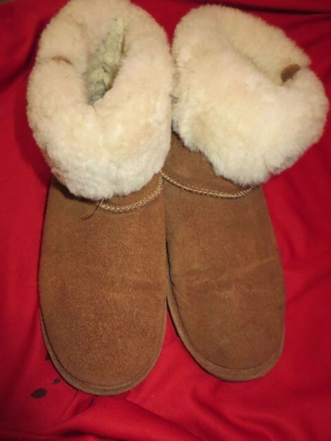 ~~BEARPAW Sheep Skin Tanned Leather Sherpa Boots Shoes Size 9~~
