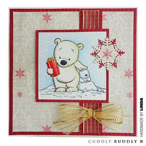 Cuddly Christmas Buddies CBS0005 Cuddly Buddly Clear Stamps