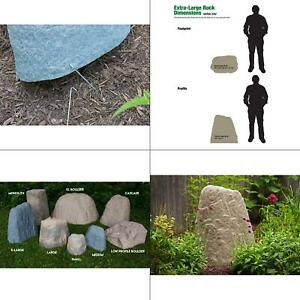 Landscape Rock Large Resin Fake Rock Cover Natural Gray Outdoor Lightweight New
