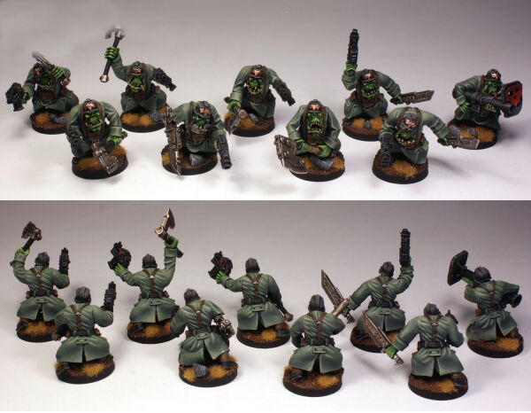 Ork War2 Orc Assault Greatcoat Squad Armounred Bodies (10)