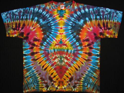 T-Shirt Gr.S 5XL langarm handgefärbt Hippie Tie dye Batik Flower Power Goa NEU