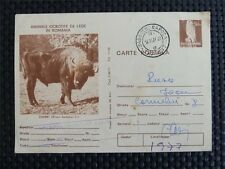 ROMANIA BISON BISONS WISENT WISENTE BUFFALO old Postcard c4093