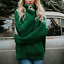 Turtle-Neck-Baggy-Tops-Chunky-Knitted-Oversized-Jumper-Sweater-Women-039-s-Winter thumbnail 12