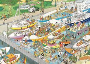 Cartoon-Puzzle-1000-Piece-Jan-van-Haasteren-Funny-Boats-Ship-Jigsaw-The-Locks