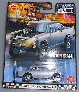 Hot Wheels Boulevard Hoonigan /'55 Chevy Bel Air Gasser Black Chrome Engine Grill