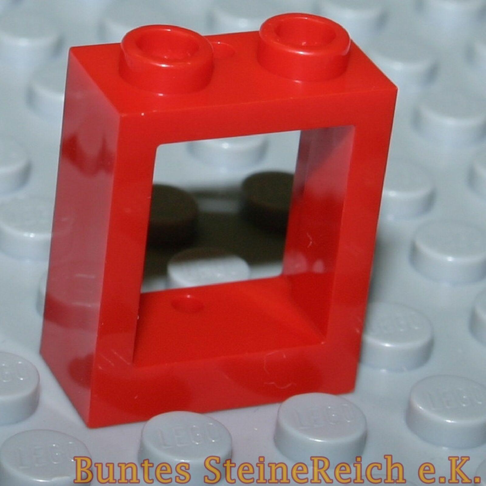 Tt13) 8 Pièce Rouge Cadre de Fenêtre 60592 1x2x2 sans vitres & neufs
