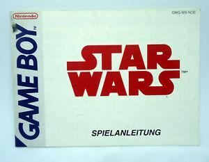 Star-Wars-manual-Anleitung-deutsch-Nintendo-Game-Boy-DMG-WS-NOE