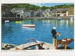 Padstow-Town-amp-Harbour-Cornwall-John-Hinde-Postcard-794a