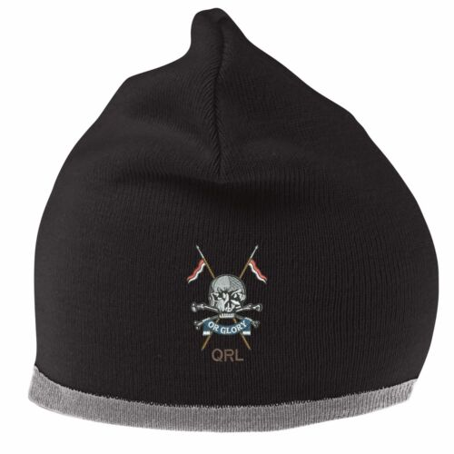 Queens Royal Lancers Beanie Hat with Embroidered Logo
