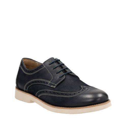Bostonian Men's Pariden Wing Oxford Navy Nubuck Casual Shoes 26125049