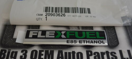 Chevrolet Buick GMC Rear Compartment Flex Fuel Vehicle Nameplate Emblem new OEM
