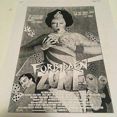 Rare Press Packet FORBIDDEN ZONE Richard Elfman Oingo Boingo cult film 1980s