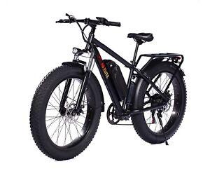 """🔥26"""" TRUE ✅ 1000W Electric E Bike Fat Tire Snow Mountain Bicycle Li-Battery 🔥"""