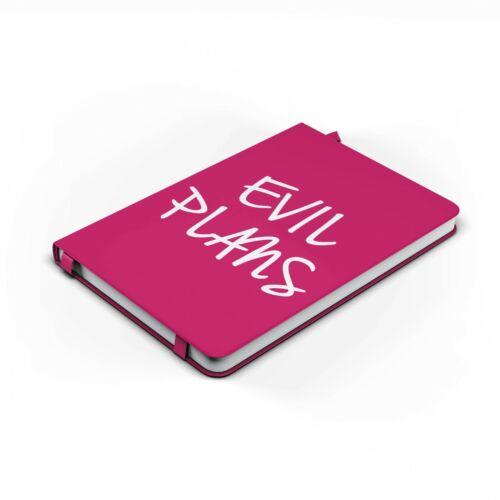 Funny Notepad Notebook Evil Plans Birthday Gifts Secret Santa Banter Jokes PAN29