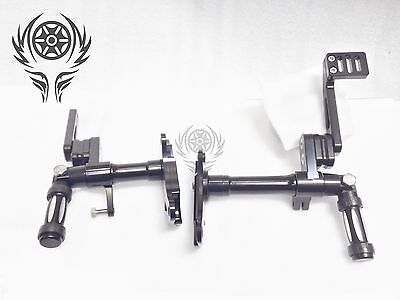 Black Billet Aluminum Forward Controls for Harley Sportster 883 1200 1991-2003