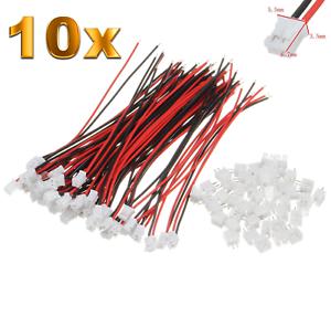 10-Set-20-Stueck-2Pin-2-0-PH-2-0mm-Mini-Micro-JST-Stecker-12cm-Kabel-Buchse