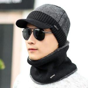 ae444baa27a Winter Hats Skullies Beanies Knitted Hat For Men Women Wool Scarf ...