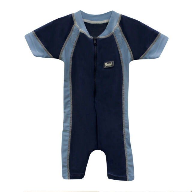 Boys Swimming Costume Swimsuit Light Blue Age 9 To 12 Months Upf 40