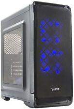 VIVO Micro-ATX Smart Mid Tower Computer Gaming PC Case Black/5 Fan Mounts