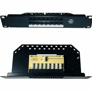 Weg Stimme Isdn Hohe Dichte Patch Panel Telefon Cat5/ Ideal Gift For All Occasions Enterprise Networking, Servers 25.4cm 1u Mini 8 Port