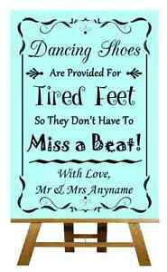 Aqua Zapatos de baile con los pies cansados Personalizado Boda Cartel / Afiche