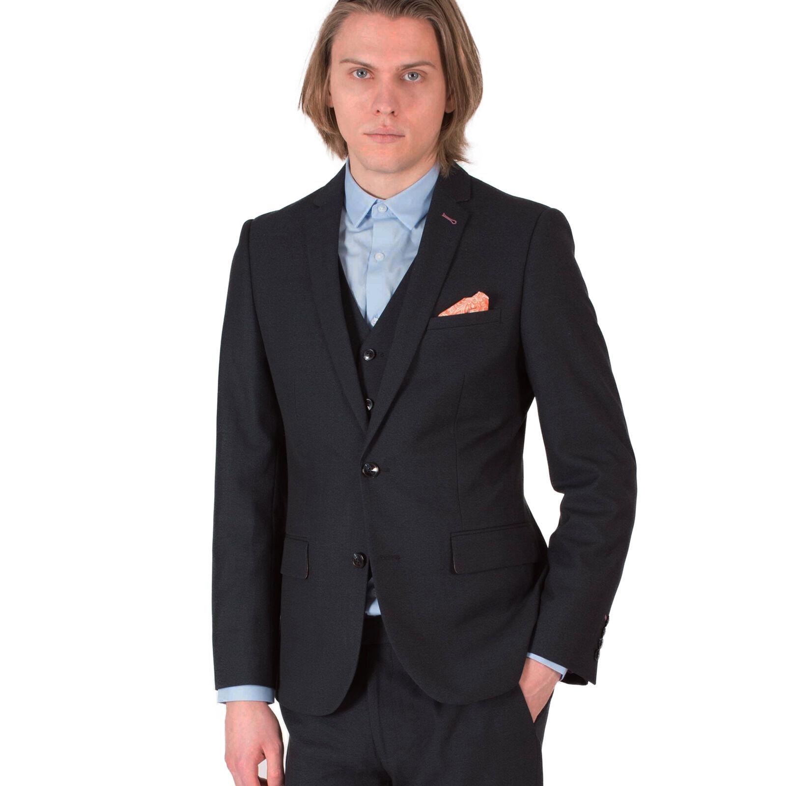 Harry Braun DANDY Three Piece Slim Fit Suit in Navy 540880047