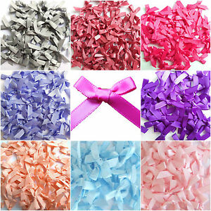 Mini-Satin-Ribbon-Bows-7mm-Choice-Single-Mixed-Colour-For-Art-amp-Craft-Sewing