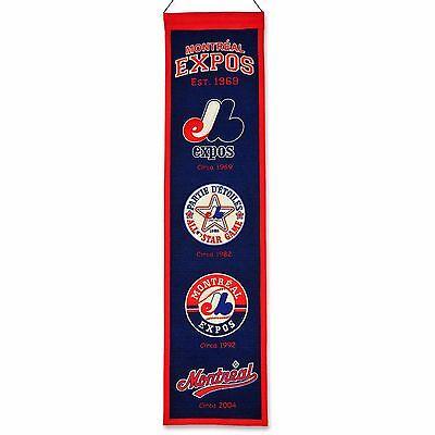 Diskret Mlb Baseball Montreal Expos Heritage Banner Großer Wimpel Pennant Wolle Fanartikel Baseball & Softball