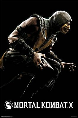 MORTAL KOMBAT X - SCORPION POSTER - 22x34 VIDEO GAME GAMING NEW 13581
