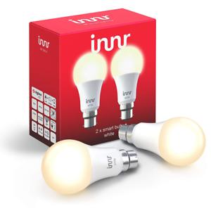 Works with Philips Hue* Alexa//Google Home Innr Smart Bulb White B22 Hub Requ