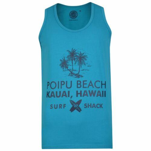 5249 Kam Men/'s Big Size Puro Cotone Stampato Hawaii Gilet