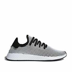 c1f460a92 adidas Mens DEERUPT RUNNER Core Black   Core Black   Running White ...