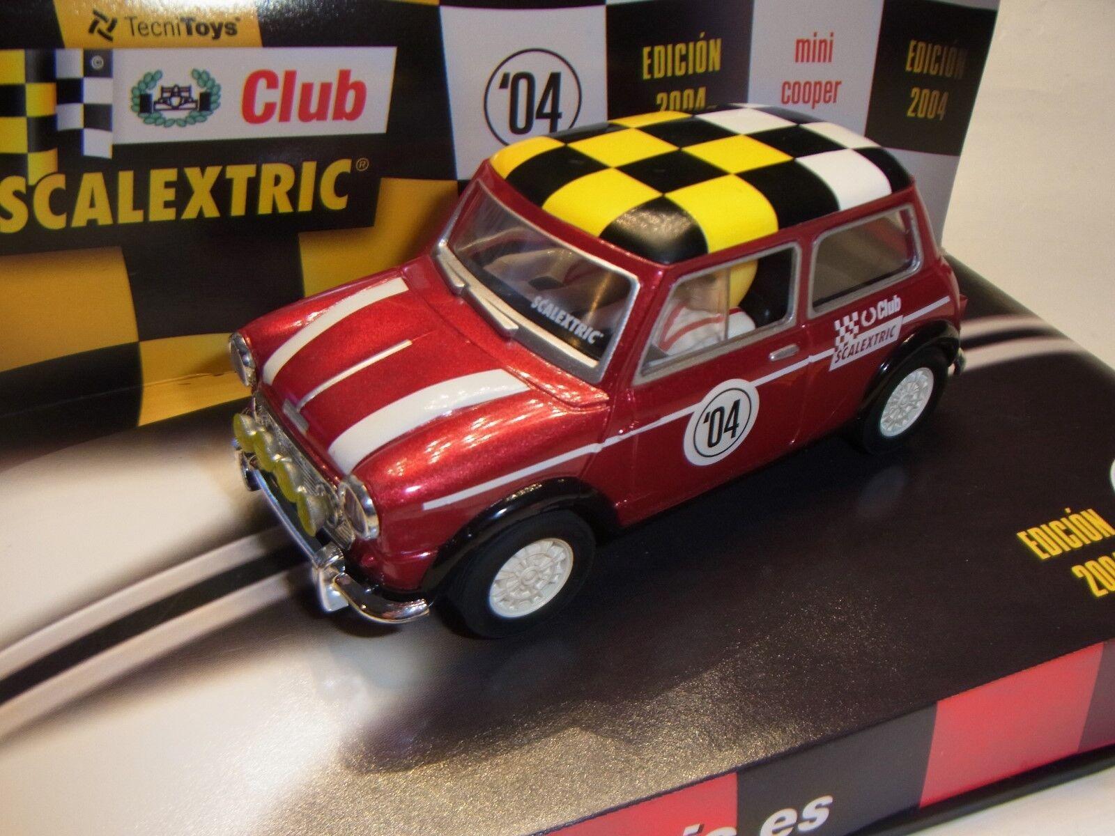 Scalextric Mini Cooper Scalextric Club C6137 para Circuito de Coches Slot 1  3 2
