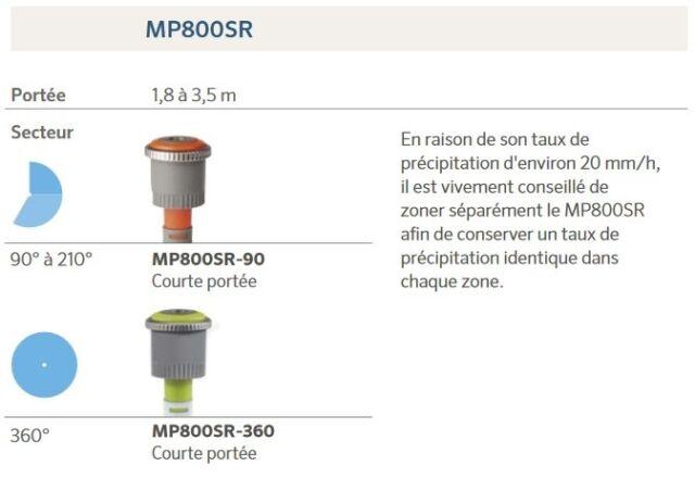 Buse MP ROTATOR 3000F Rotative Arroseur HUNTER Secteur Fixe 360° 6,7/>9,1m